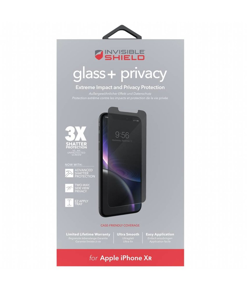 InvisibleShield Glass+ Privacy Screenprotector iPhone Xr