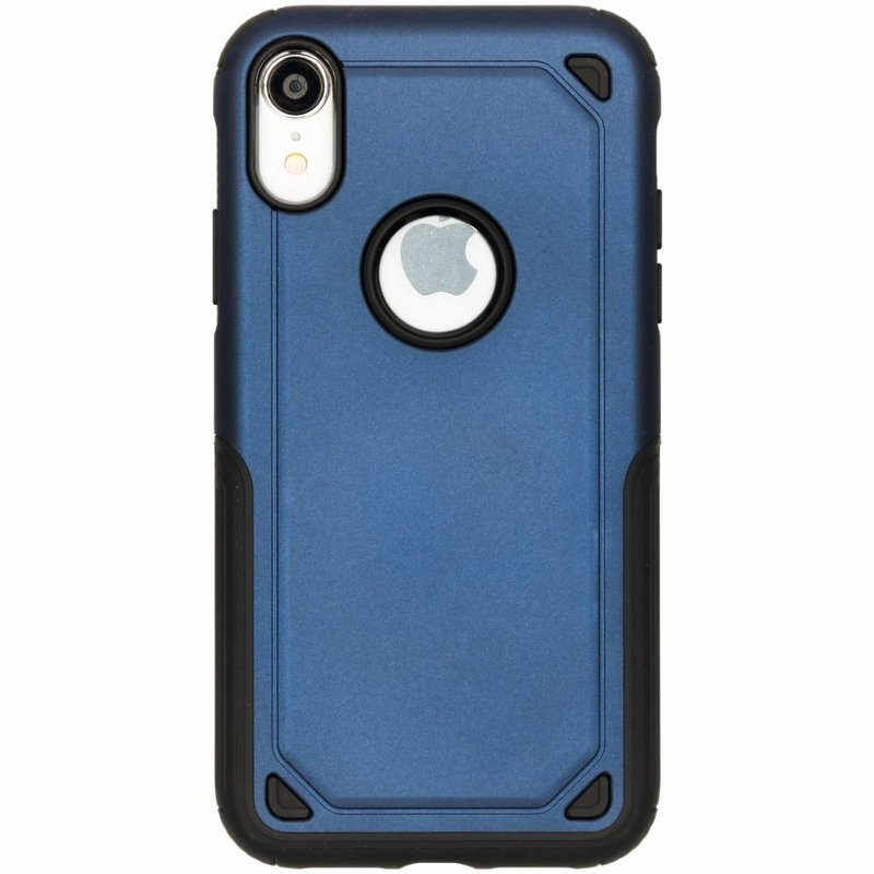 Blauw rugged hardcase hoesje iPhone Xr