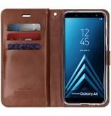 Mercury Goospery Bruine Mansoor Wallet Diary Case voor de Samsung Galaxy A6 (2018)