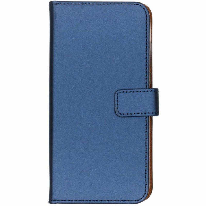 Selencia Donkerblauw Luxe TPU Book Case Huawei P30 Lite