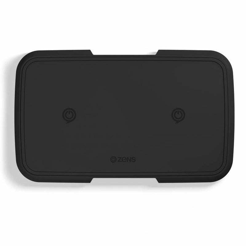 Zens Zwart Dual Fast Wireless Charger - 10 Watt