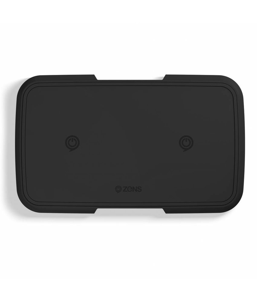 Zens Dual Aluminium Wireless Charger 2 x 10W