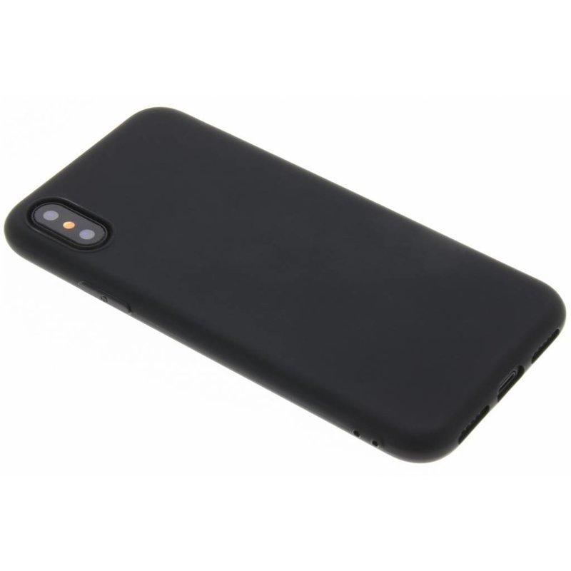 Zwart Color TPU hoesje iPhone Xs / X