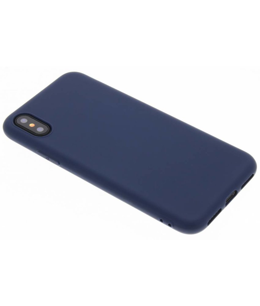 Donkerblauw Color TPU hoesje iPhone Xs / X