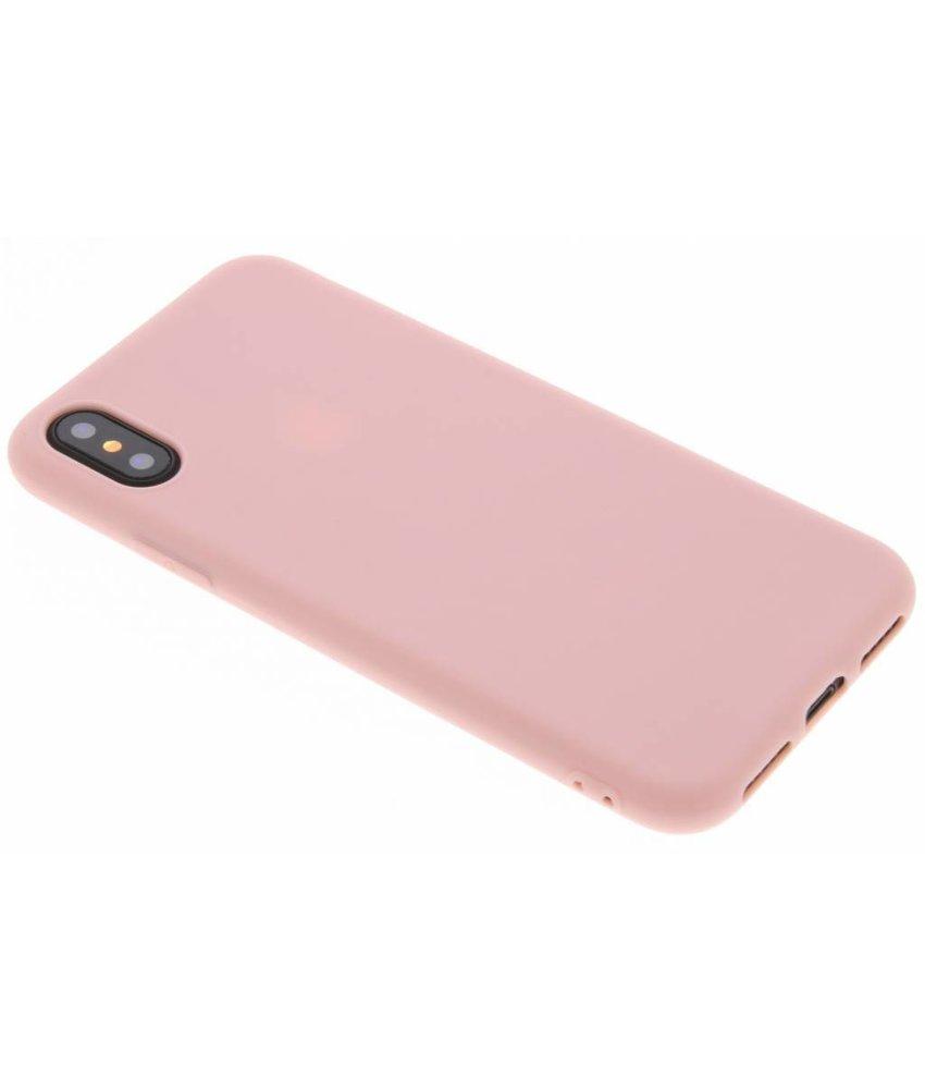 Poederroze Color TPU hoesje iPhone Xs / X
