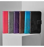 Klavertje Bloemen Booktype voor Sony Xperia L2 - Grijs