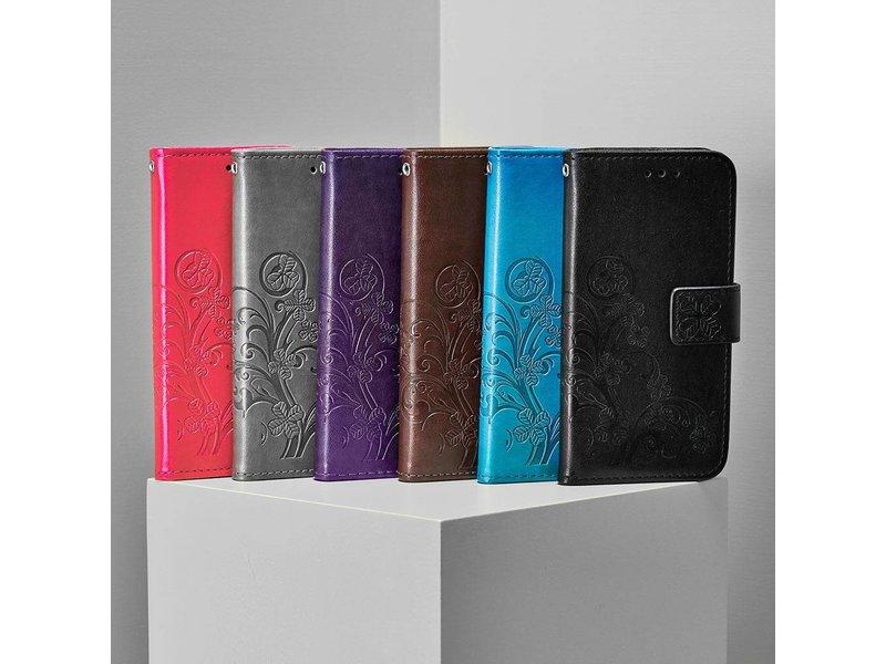 Sony Xperia L2 hoesje - Klavertje Bloemen Booktype voor