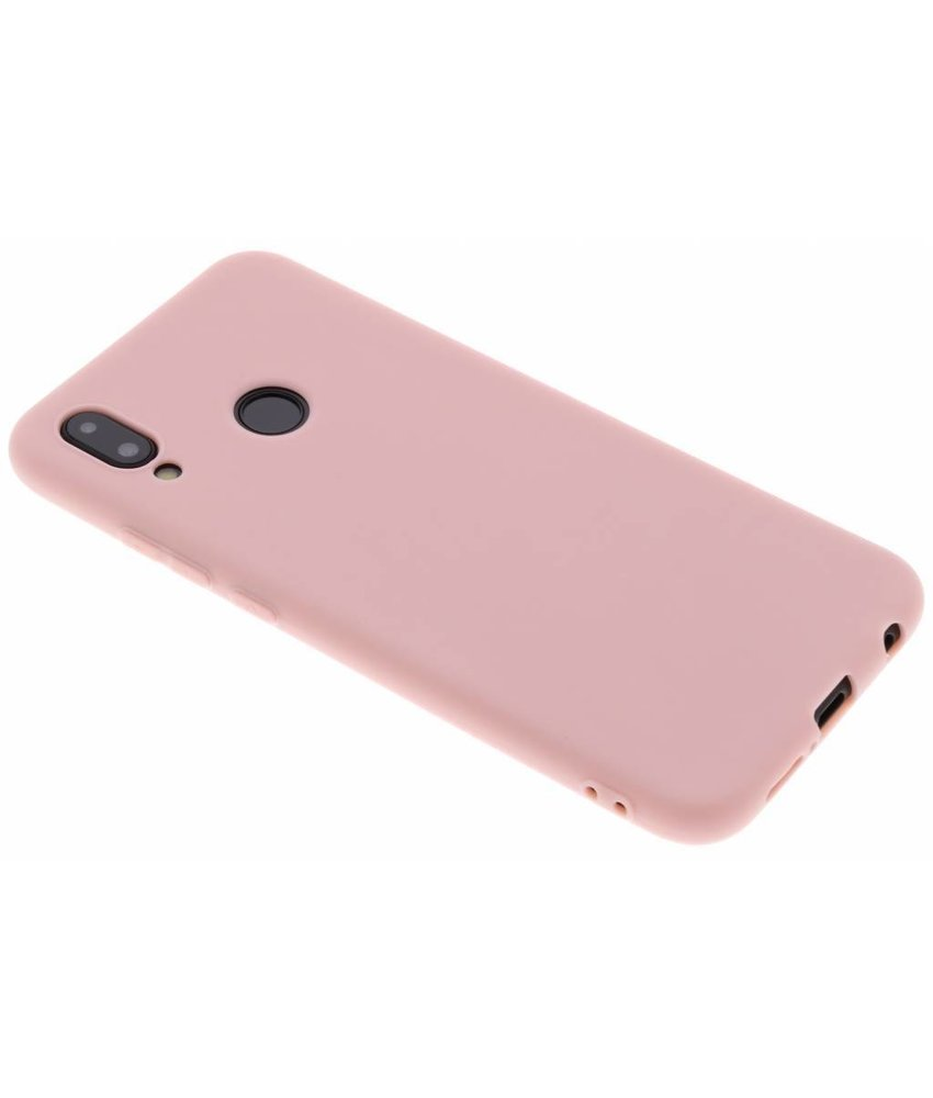 Poederroze Color TPU hoesje Huawei P20 Lite