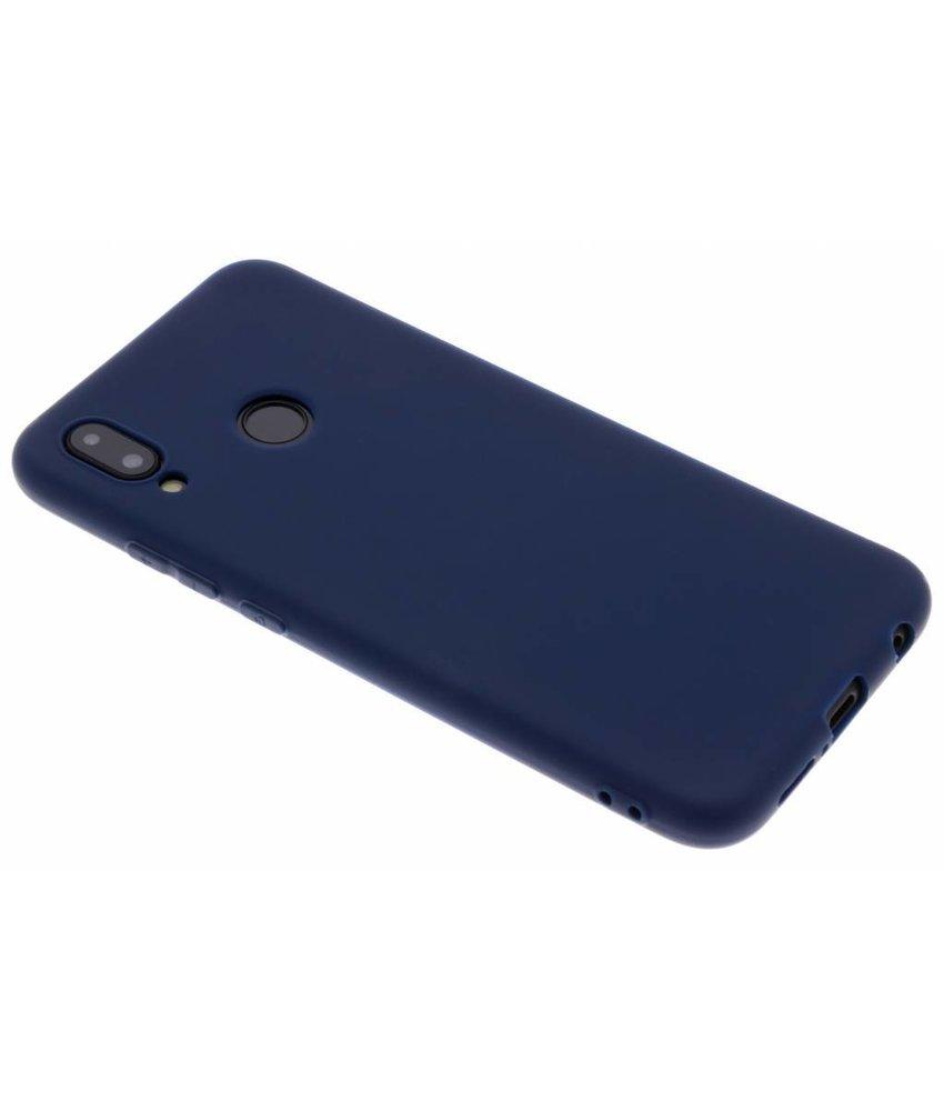 Blauw Color TPU hoesje Huawei P20 Lite