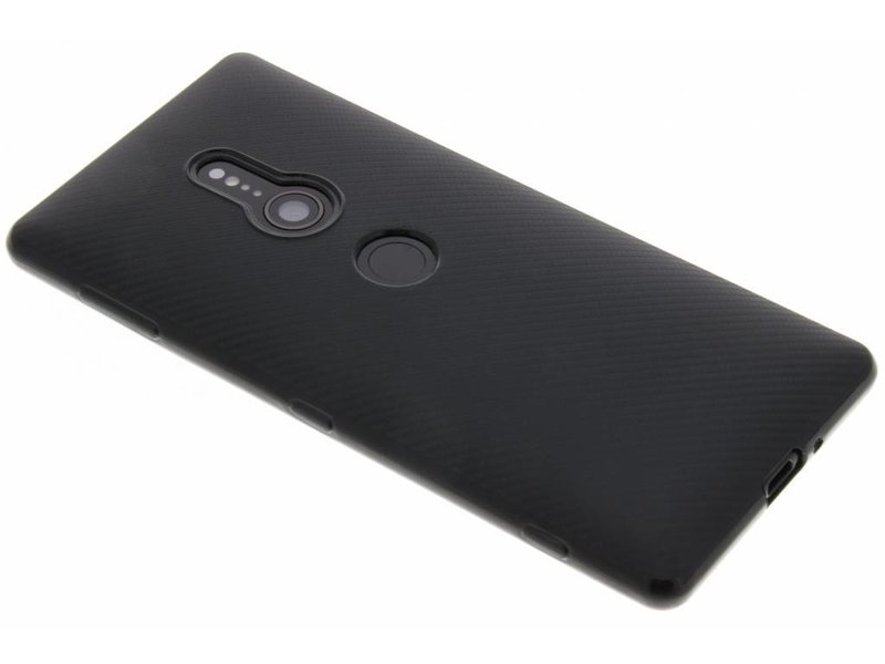 Sony Xperia XZ2 hoesje - Carbon Softcase Backcover voor