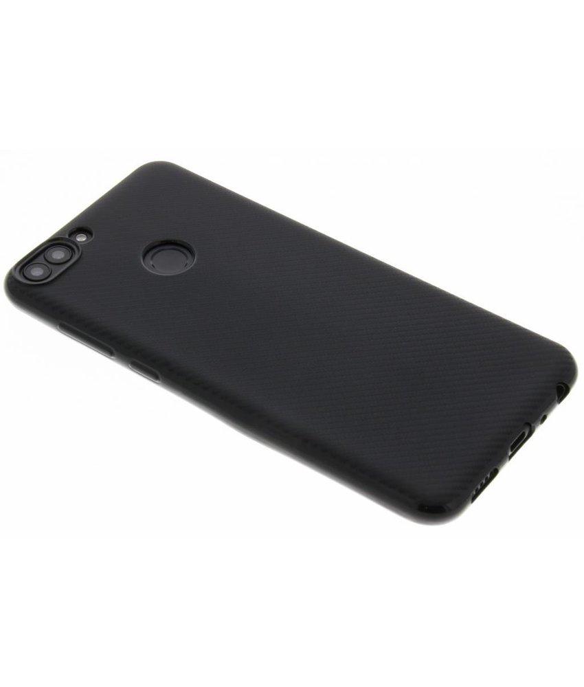 Zwart Carbon siliconen hoesje Huawei P Smart