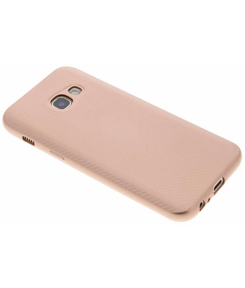 Rosé Goud Carbon siliconen hoesje Samsung Galaxy A3 (2017)