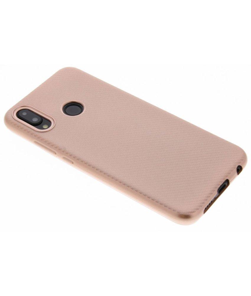 Rosé Goud Carbon siliconen hoesje Huawei P20 Lite