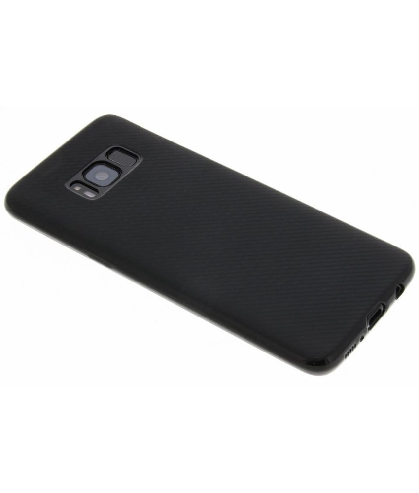 Zwart Carbon siliconen hoesje Samsung Galaxy S8