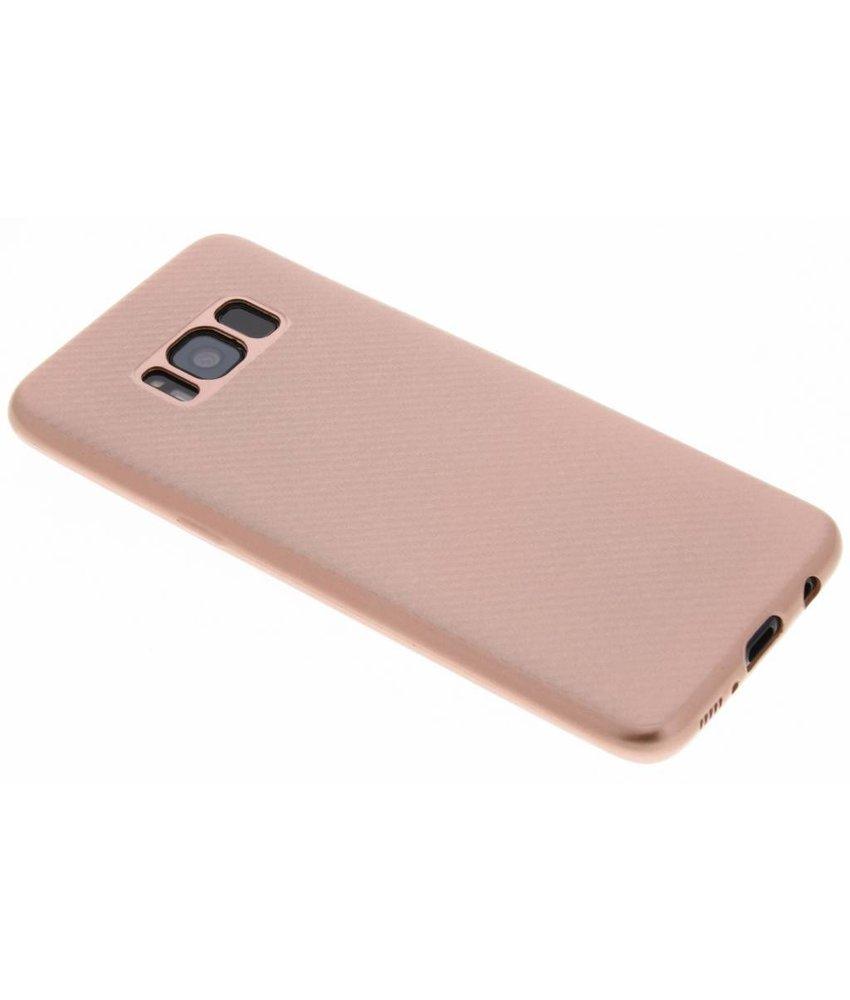 Rosé Goud Carbon siliconen hoesje Samsung Galaxy S8