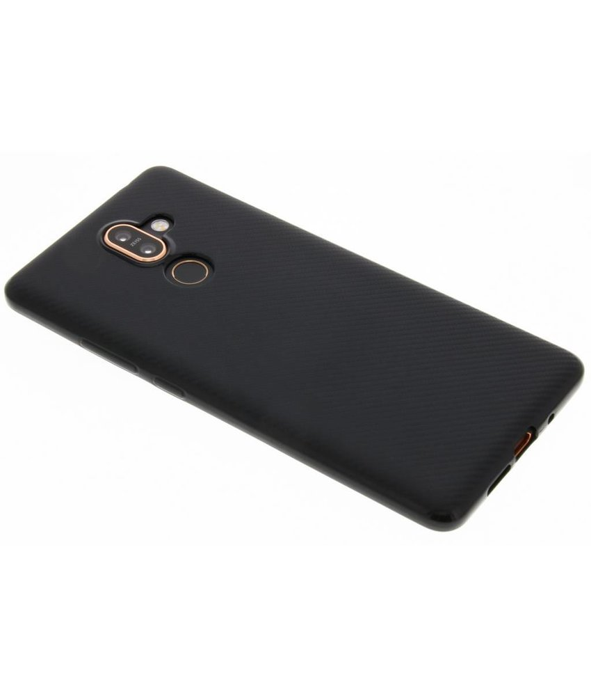 Carbon Softcase Backcover Nokia 7 Plus