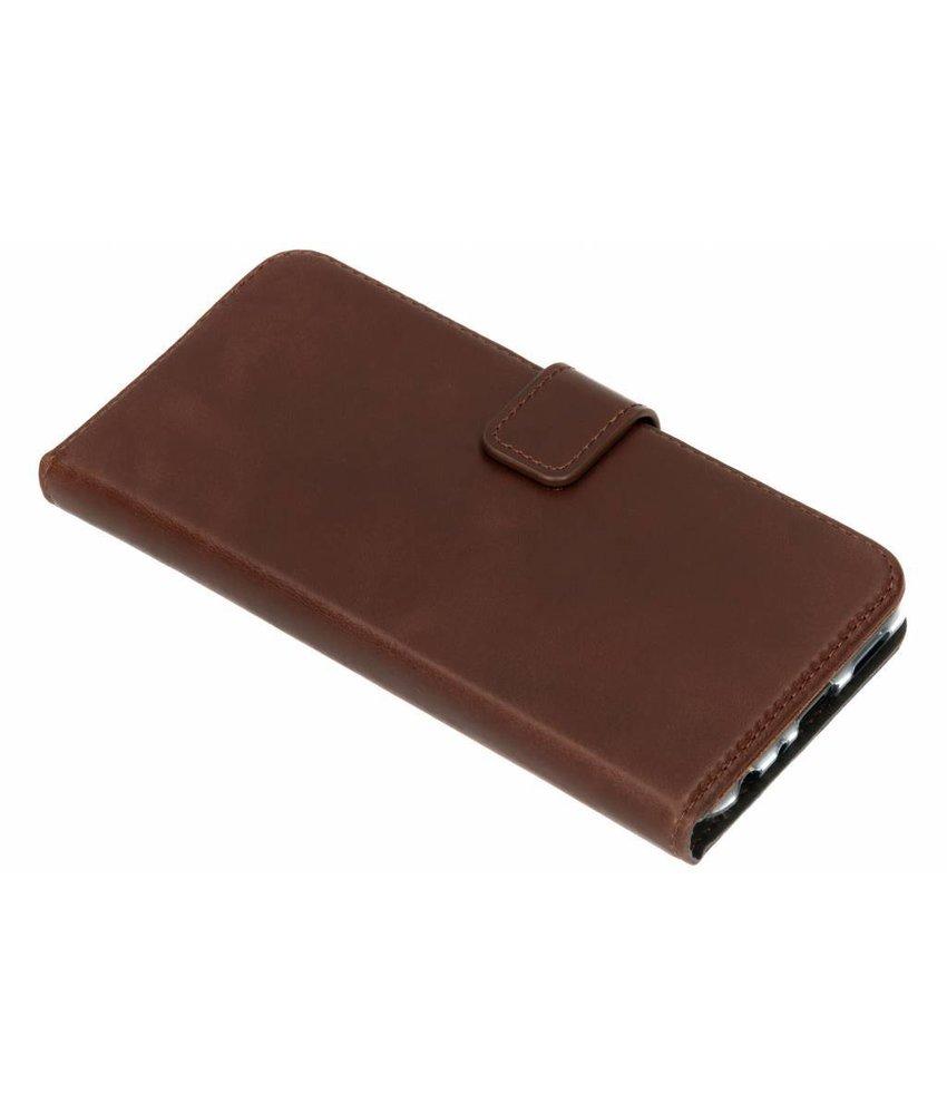 Selencia Huawei P Smart hoesje bruin - Echt lederen booktype