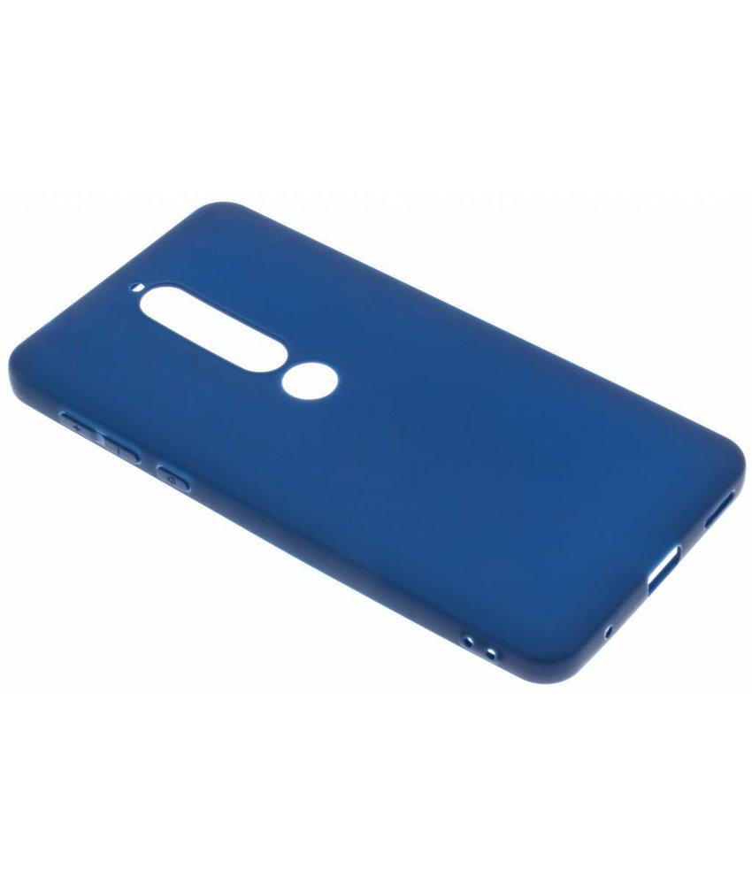 Donkerblauw Color TPU hoesje Nokia 6.1