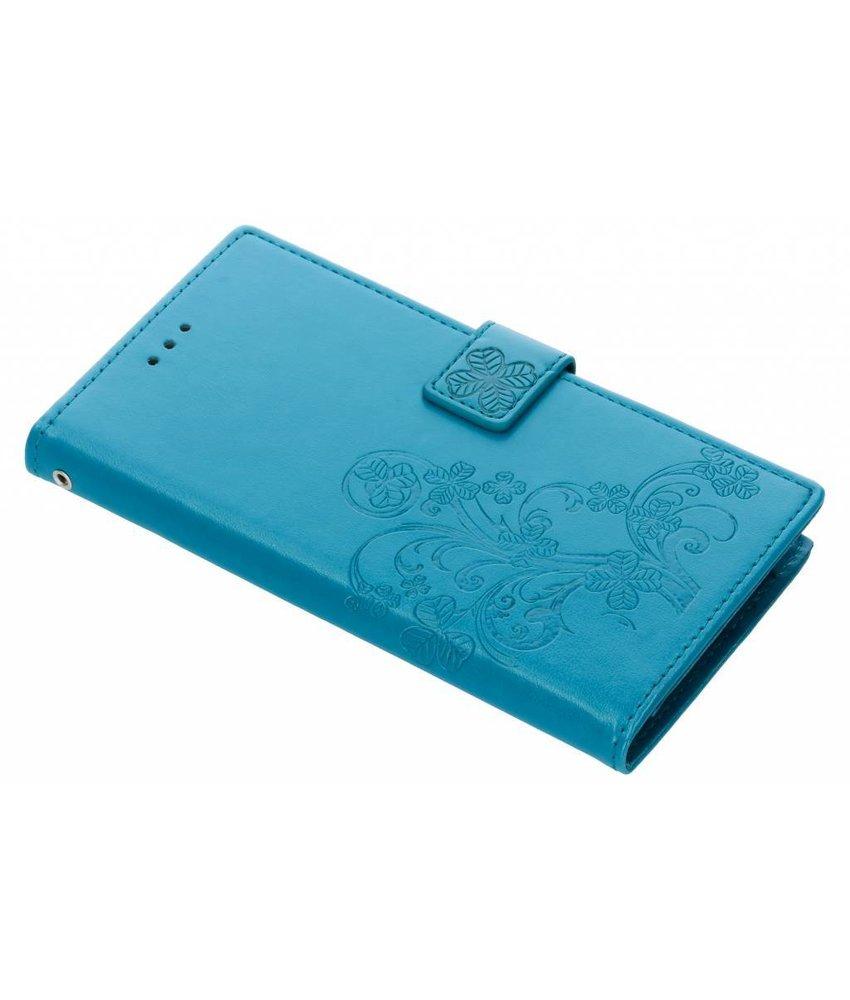 Klavertje Bloemen Booktype Samsung Galaxy A6 Plus (2018)