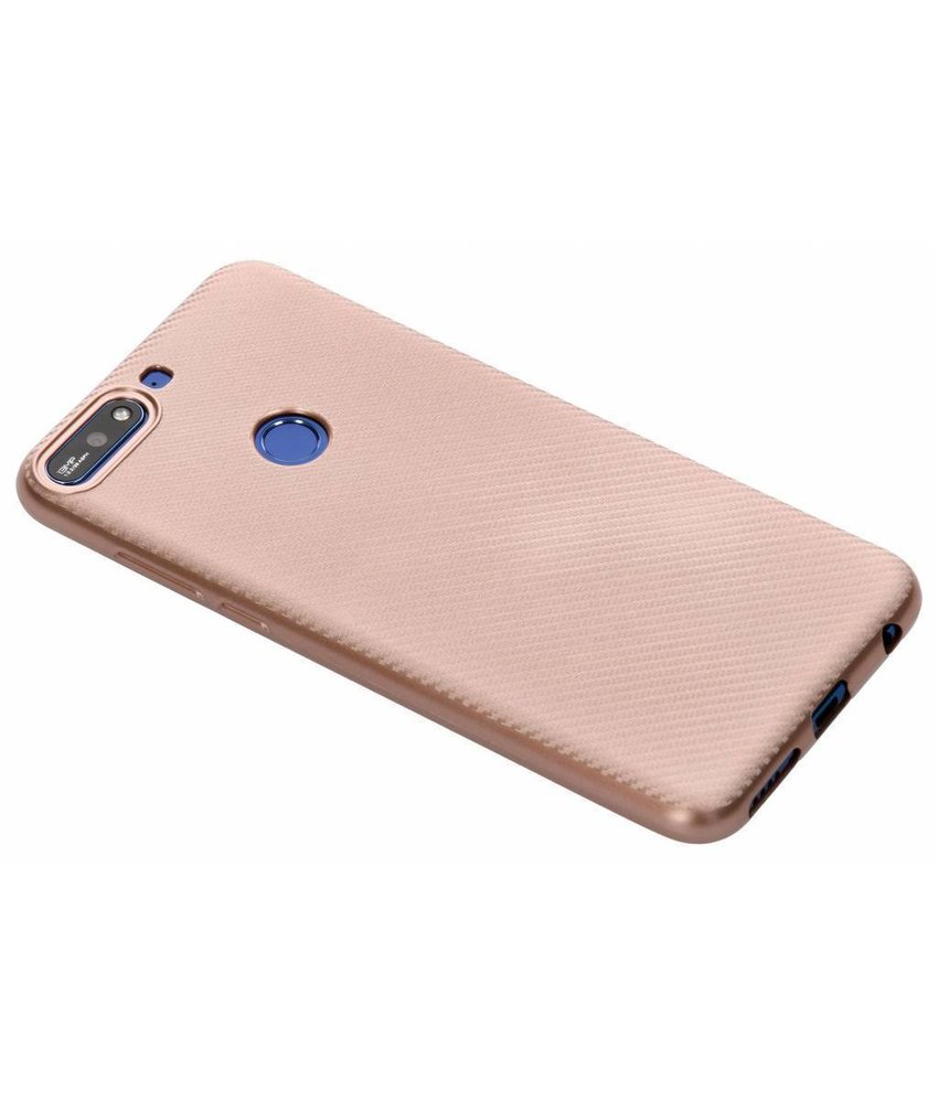 Carbon Softcase Backcover Huawei Y7 (2018)