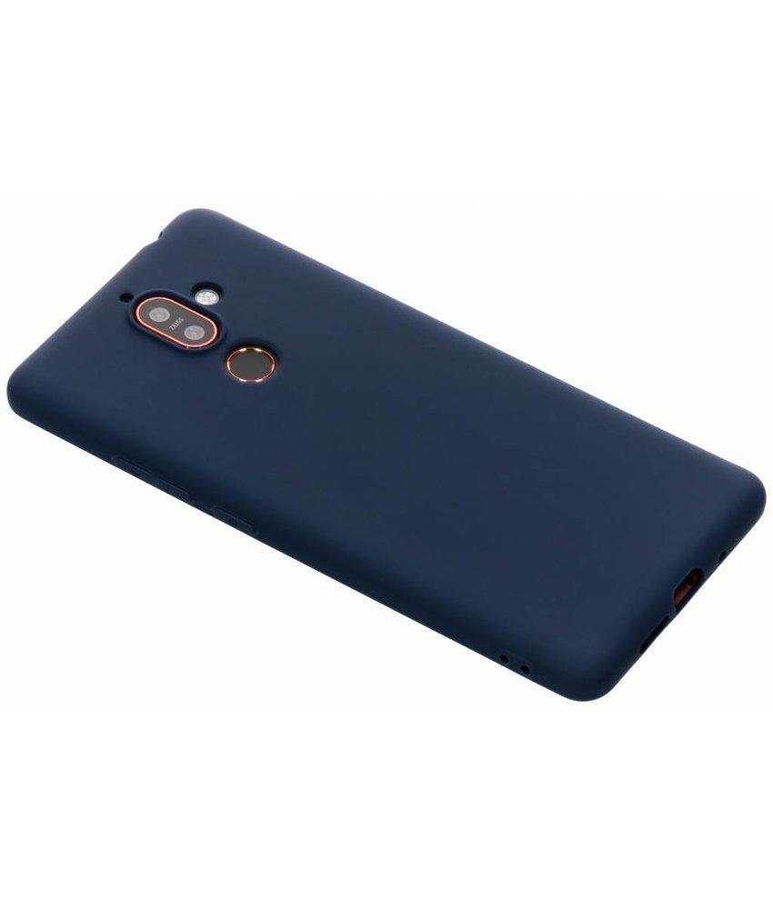 Donkerblauw Color TPU hoesje Nokia 7 Plus