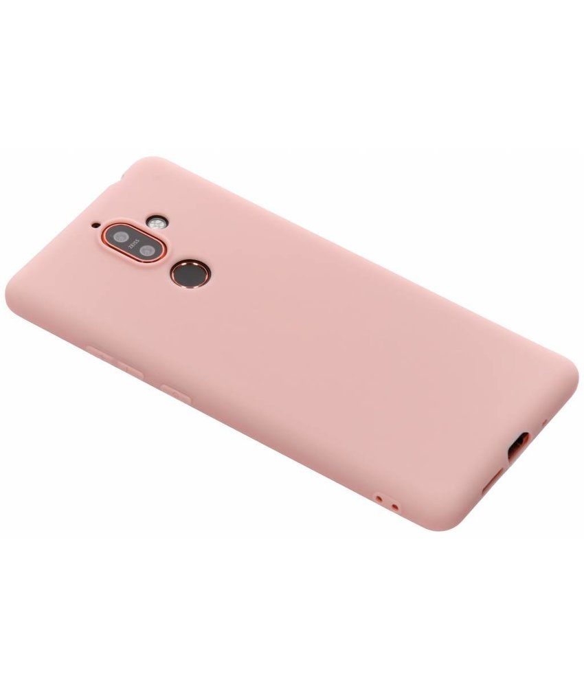 Roze Color TPU hoesje Nokia 7 Plus