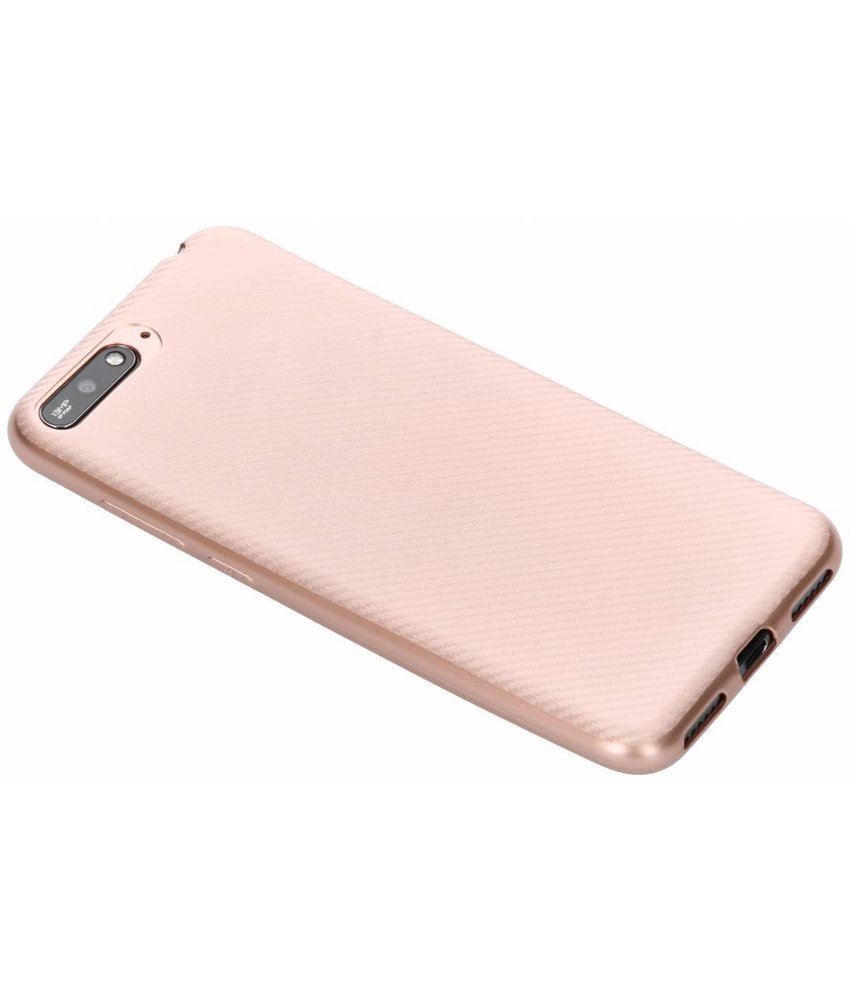 Carbon Softcase Backcover Huawei Y6 (2018)