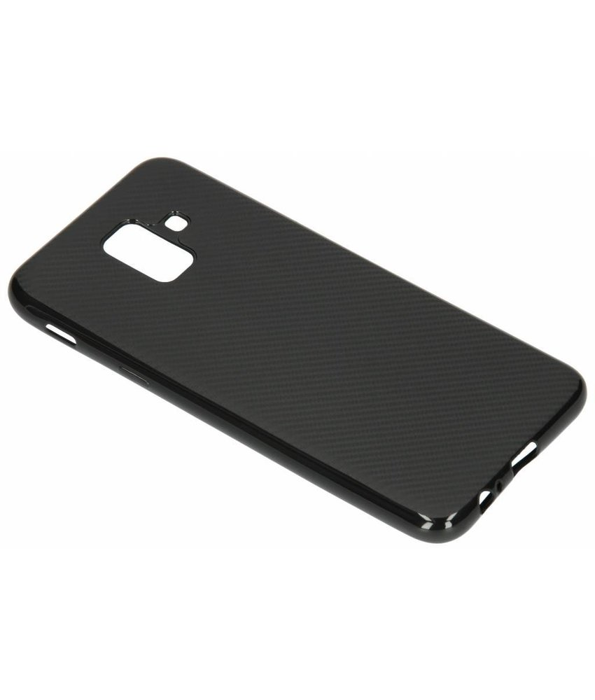 Carbon Softcase Backcover Samsung Galaxy A6 (2018)