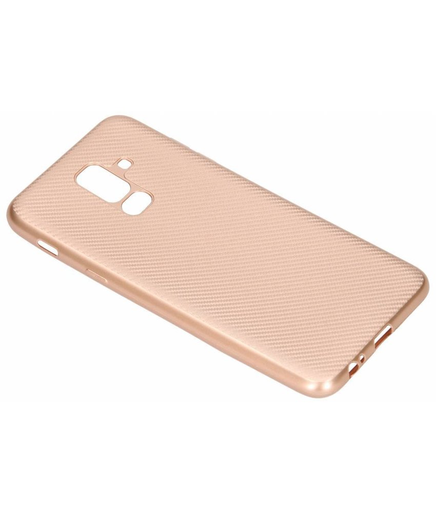 Carbon Softcase Backcover Samsung Galaxy A6 Plus (2018)