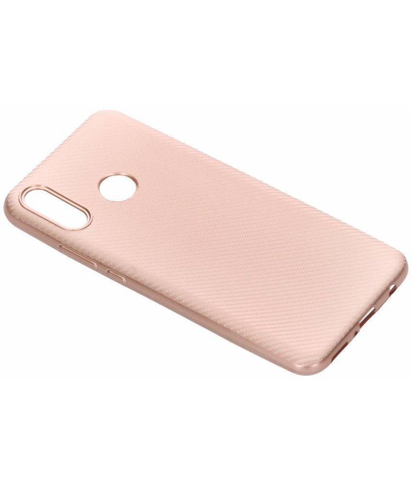 Rosé Goud carbon siliconen hoesje Huawei Nova 3