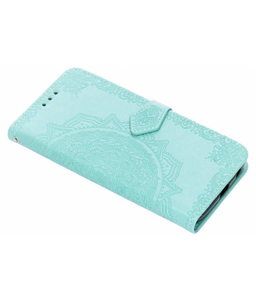 Mintgroen mandala booktype hoes Motorola Moto G6 Plus