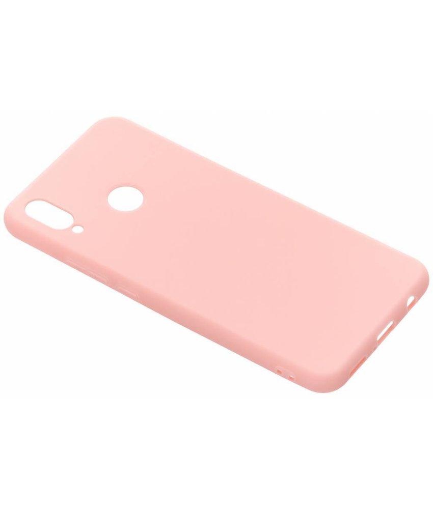 Roze color TPU hoesje Huawei P Smart Plus