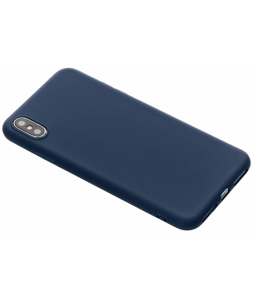 Donkerblauw color TPU hoesje iPhone Xs Max