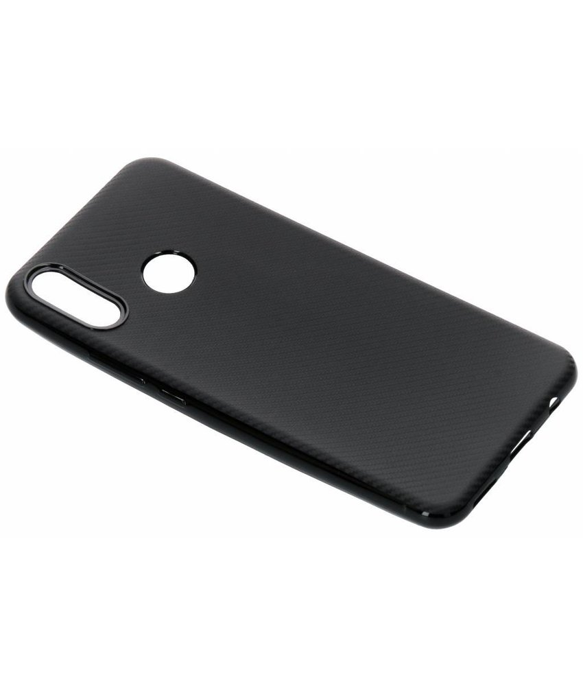 Carbon Softcase Backcover Huawei P Smart Plus