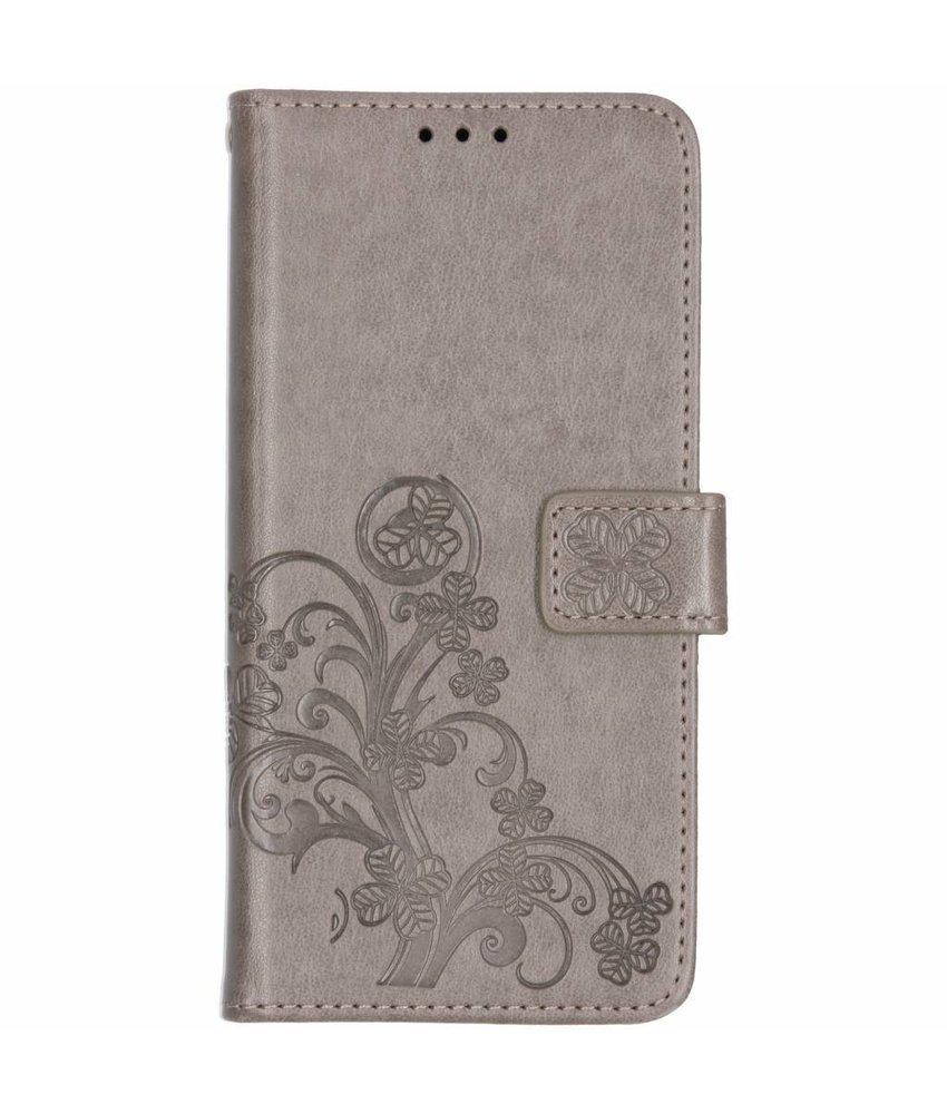 Klavertje Bloemen Booktype Samsung Galaxy A7 (2018)