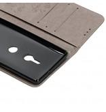 Klavertje Bloemen Booktype voor Sony Xperia XZ3 - Grijs