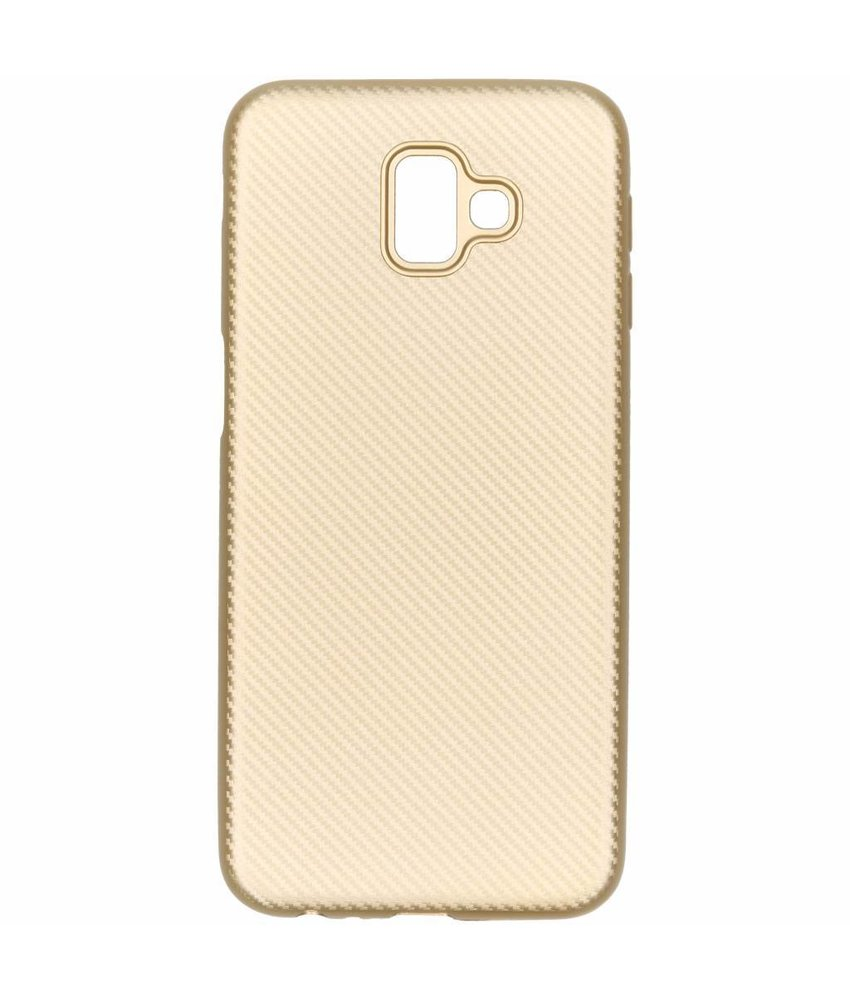 Carbon Softcase Backcover Samsung Galaxy J6 Plus