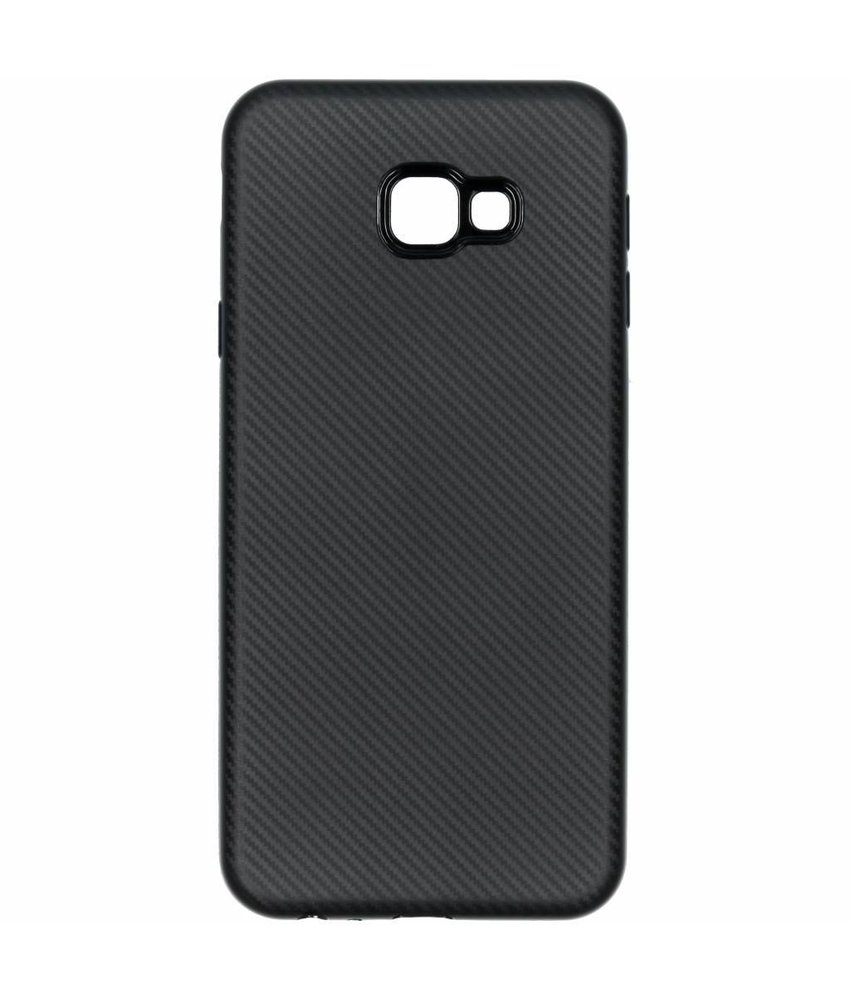 Carbon Softcase Backcover Samsung Galaxy J4 Plus
