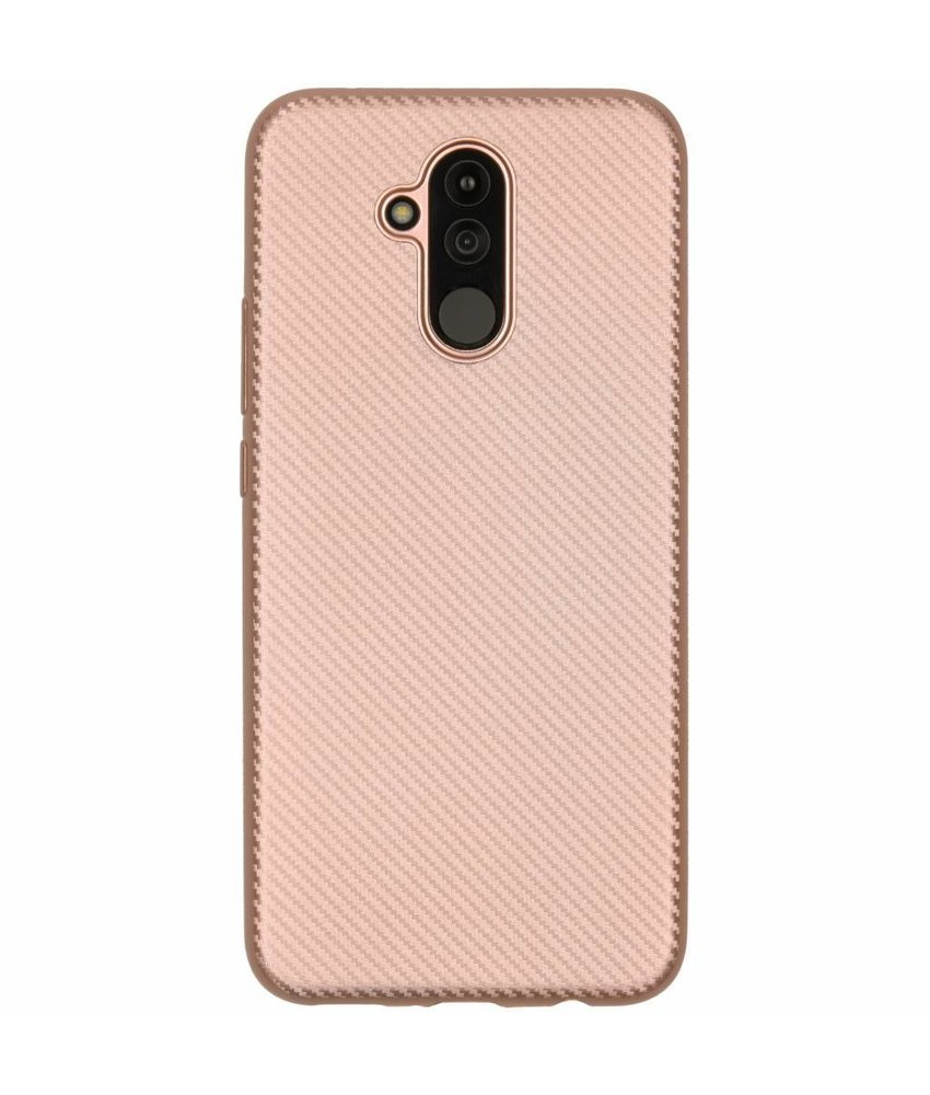 Carbon Softcase Backcover Huawei Mate 20 Lite