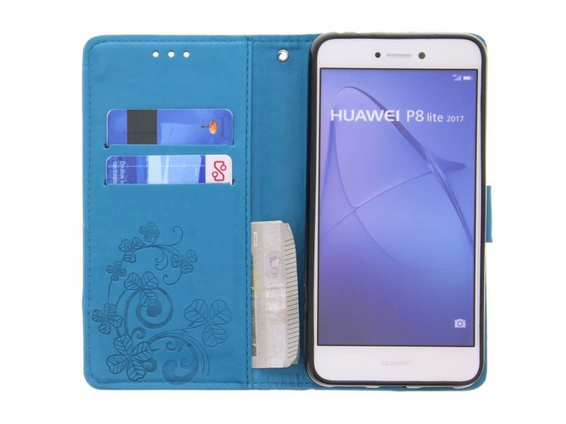 Huawei P8 Lite (2017) hoesje - Klavertje Bloemen Booktype voor