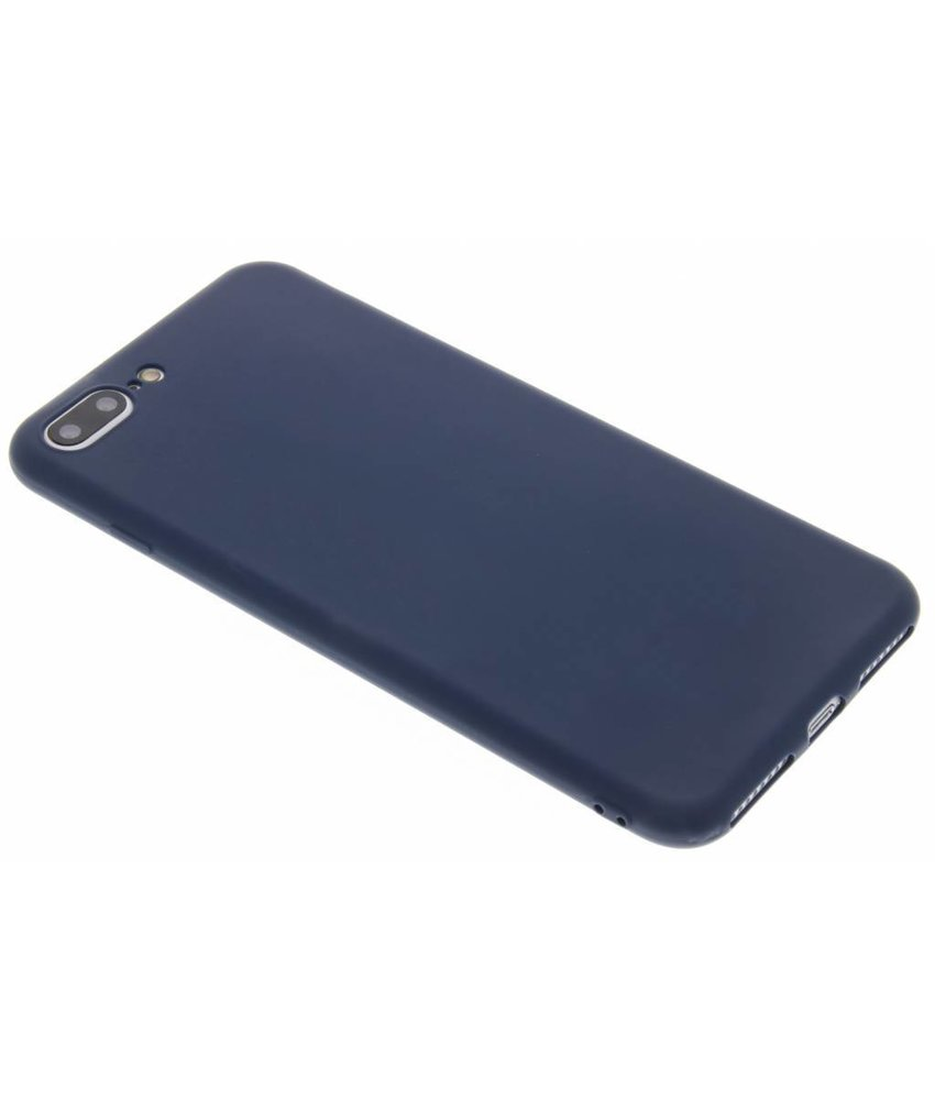 Donkerblauw color TPU hoesje iPhone 8 Plus / 7 Plus