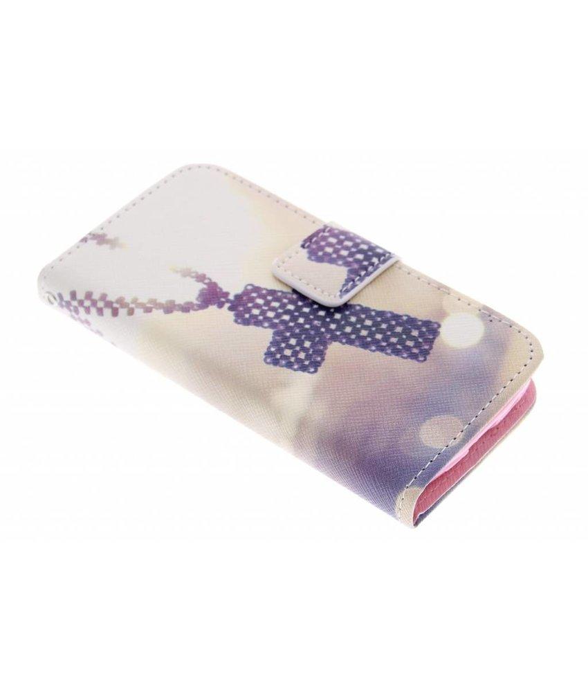 Design Softcase Booktype Samsung Galaxy S4 Mini
