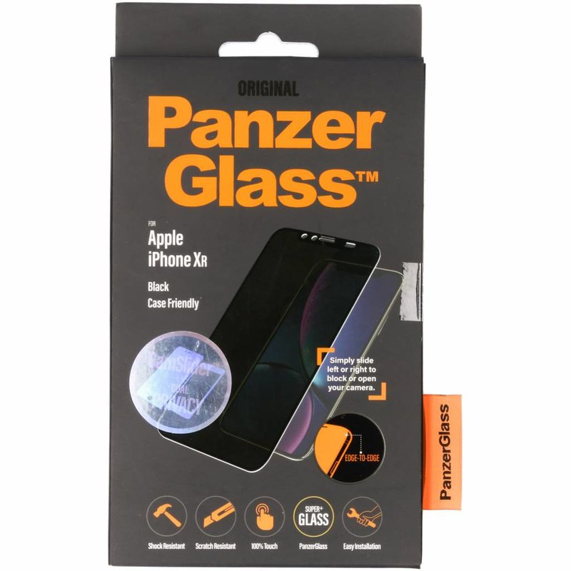 PanzerGlass CamSlider™ Privacy Screenprotector iPhone Xr