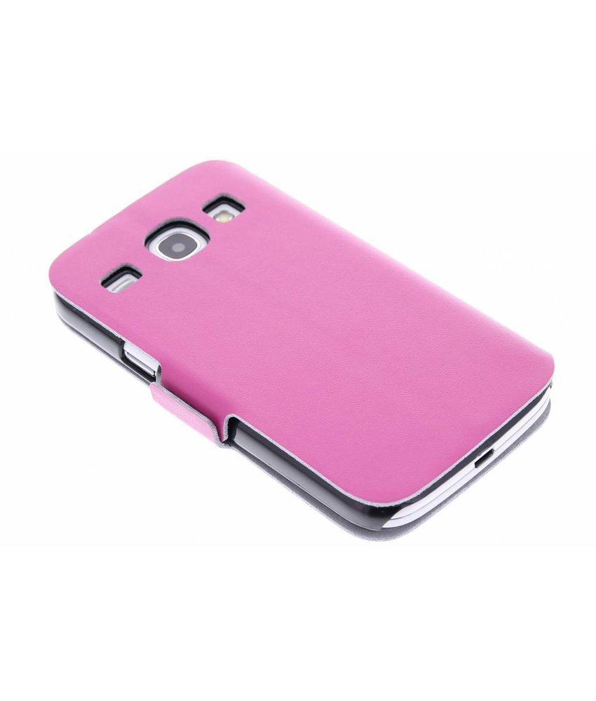 Fuchsia luxe booktype hoes Samsung Galaxy Core