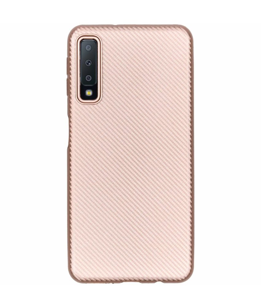 Carbon Softcase Backcover Samsung Galaxy A7 (2018)