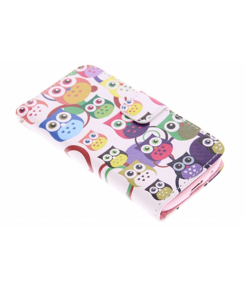 Design Softcase Booktype Samsung Galaxy S4 Mini