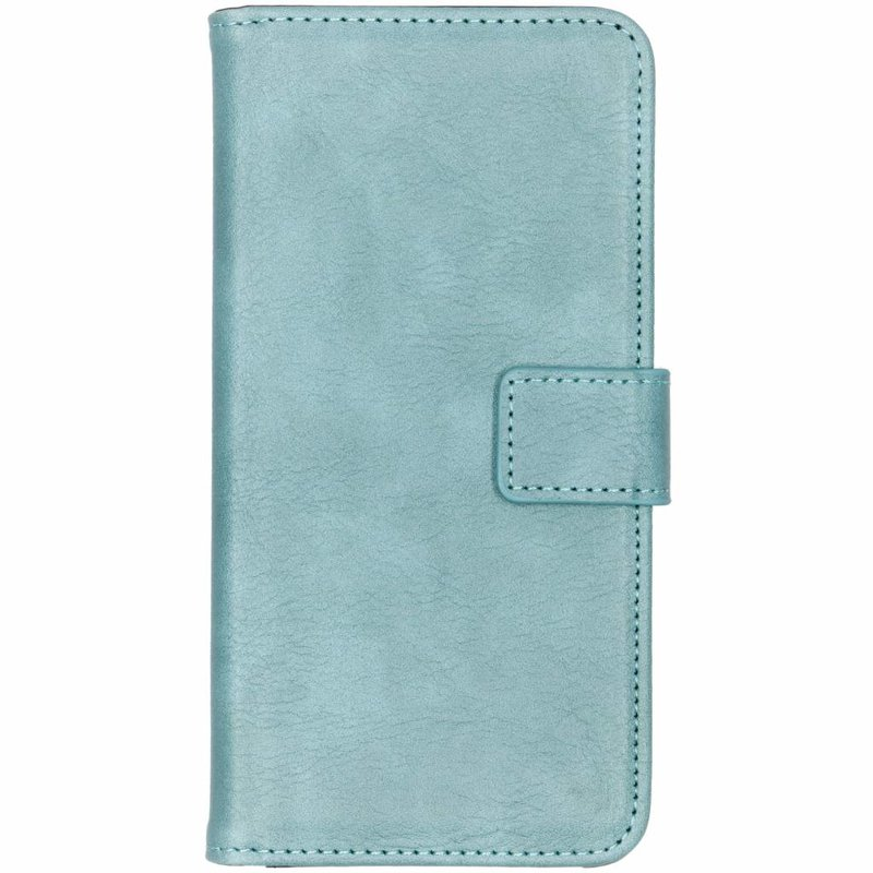Lichtblauw luxe leder booktype hoes Samsung Galaxy S10 Plus