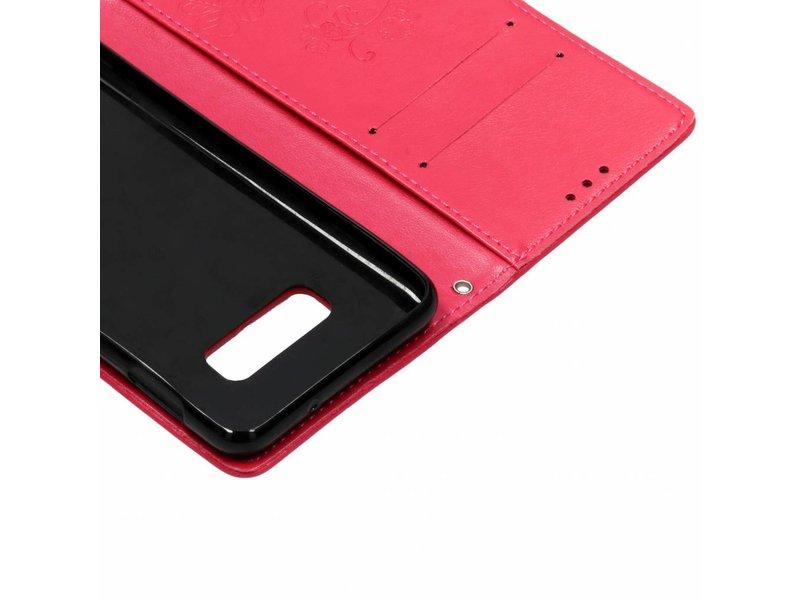 Samsung Galaxy S10e hoesje - Klavertje Bloemen Booktype voor