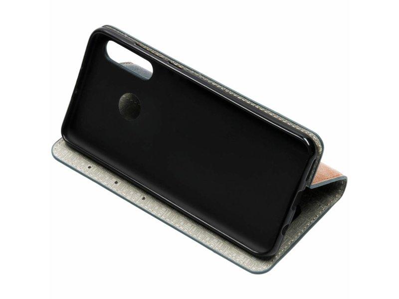 Huawei P30 Lite hoesje - Donkerblauwe Denim TPU booktype