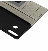 Donkerblauwe Denim TPU booktype hoes voor de Huawei P30 Lite